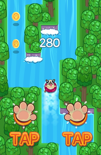 Pug Rapids Game Screenshot - 2 of 4